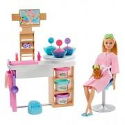 Boneca Barbie Dia Spa De Luxo Máscaras Faciais GJR84 Mattel