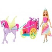 Boneca Barbie Dreamtopia Princesa E Carruagem GJK53 Mattel
