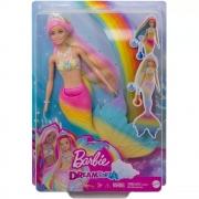 Boneca Barbie Dreamtopia Sereia Rainbow Magic GTF89 Mattel