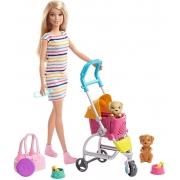 Boneca Barbie Family Carrinho De Cachorrinho GHV92 Mattel