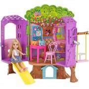Boneca Barbie Family Chelsea Casa Da Árvore FPF83 Mattel