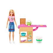 Boneca Barbie Máquina De Macarrão Playset GHK43 Mattel