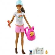 Boneca Barbie Morena Bem Estar Caminhada GRN66 Mattel
