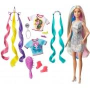 Boneca Barbie Penteados De Fantasia GHN04 Mattel