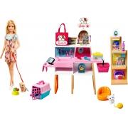 Boneca Barbie Pet Shop Animais De Estimação GRG90 Mattel