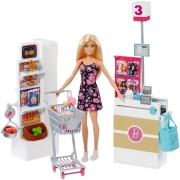 Boneca Barbie Real Supermercado FRP01 Mattel