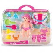 Boneca Bebê Mania Praia 4501 Roma