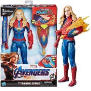 Boneca Eletronica Capita Marvel Titan Hero E3307 Hasbro