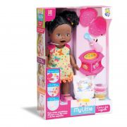 Boneca My Little Collection Come E Faz Caquinha Negra 8031 Divertoys
