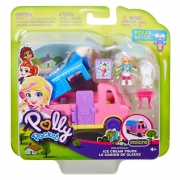 Boneca Polly Pocket Pollyville Micro Carro GGC39 Mattel