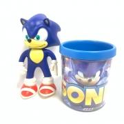 Boneco Sonic Com Caneca De Acrílico