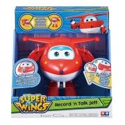 Boneco Super Wings Grava E Fala Jett Fun