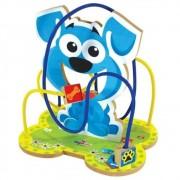 Brinquedo Educativo Aramado Cachorro Em Madeira Ciabrink