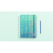 Caderno Azul Holográfico Médio CIMD3055 Caderno Inteligente