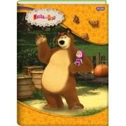 Caderno Brochura Capa Dura Masha E O Urso 96 Folhas Jandaia