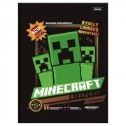 Caderno Brochura Capa Dura Minecraft 96 Folhas Foroni