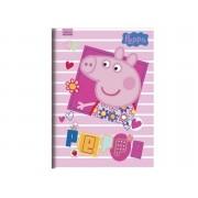 Caderno Brochura Capa Dura Peppa Pig 96 Folhas Foroni