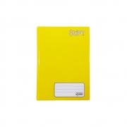 Caderno Brochura Pequeno Stiff Amarelo 48 Folhas Tilibra