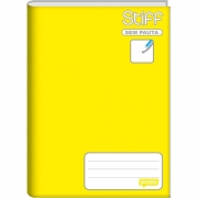 Caderno Brochura Sem Pauta Stiff Amarelo 96 Folhas Jandaia