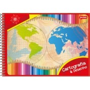 Caderno De Desenho Espiral Capa Flexível 96 Folhas Jandaia