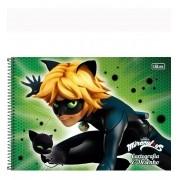 Caderno De Desenho Espiral Cat Noir 80 Folhas Tilibra