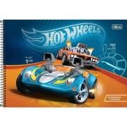 Caderno De Desenho Espiral Hot Wheels 80 Folhas Tilibra