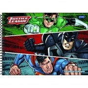 Caderno De Desenho Espiral Liga Da Justiça 96 Folhas Jandaia
