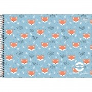 Caderno De Desenho Espiral Pepper 80 Folhas Tilibra