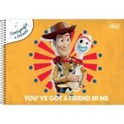 Caderno De Desenho Espiral Toy Story 80 Folhas Tilibra