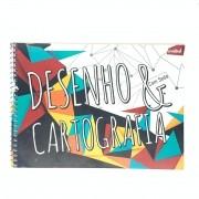 Caderno Desenho Espiral Flexível Com Seda 48 Folhas Credeal