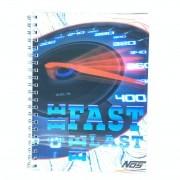 Caderno Espiral 3D Adrenalina 96 Folhas 3D Editora.
