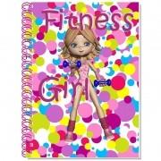 Caderno Espiral 3D Fitness Girl 96 Folhas 3D Editora