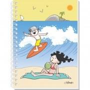 Caderno Espiral 3D Maluquinho Surf 96 Folhas 3D Editora