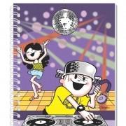 Caderno Espiral 3D Menino Maluquinho DJ 96 Folhas 3D Editora