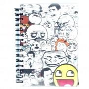Caderno Espiral Pequeno 3D Todos Memes 96 Folhas 3D Editora