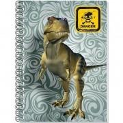 Caderno Espiral Universitário 3D Dino 96 Folhas 3D Editora