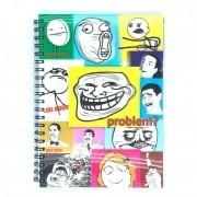Caderno Espiral Universitário 3D Memes 96 Folhas 3D Editora