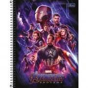 Caderno Espiral Universitário Avengers 80 Folhas Tilibra