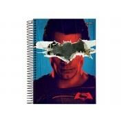 Caderno Espiral Universitário Batman X Superman 96 Folhas