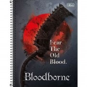 Caderno Espiral Universitário Bloodborne 80 Folhas Tilibra