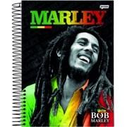 Caderno Espiral Universitário Bob Marley 96 Folhas Jandaia