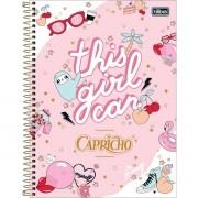 Caderno Espiral Universitário Capricho 80 Folhas Tilibra