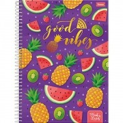 Caderno Espiral Universitário Fruit Lovers 10 Matérias Foroni