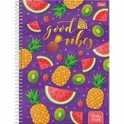 Caderno Espiral Universitário Fruit Lovers 96 Folhas Foroni