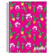 Caderno Espiral Universitário Kings 96 Folhas São Domingos