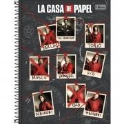 Caderno Espiral Universitário La Casa De Papel 80 Folhas Tilibra