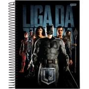 Caderno Espiral Universitário Liga Da Justiça 96 Folhas Jandaia