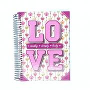 Caderno Espiral Universitário Love 10 Matérias Máxima