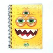 Caderno Espiral Universitário Maxi Monster 96 Folhas Máxima