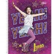 Caderno Espiral Universitário Sou Luna 96 Folhas Tilibra